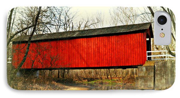 Sandy Creek Bridge In Winter Phone Case by Marty Koch