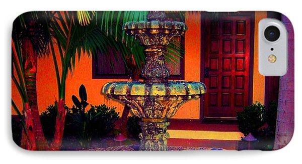 Santa Barbara Fountain Phone Case by Ann Johndro-Collins