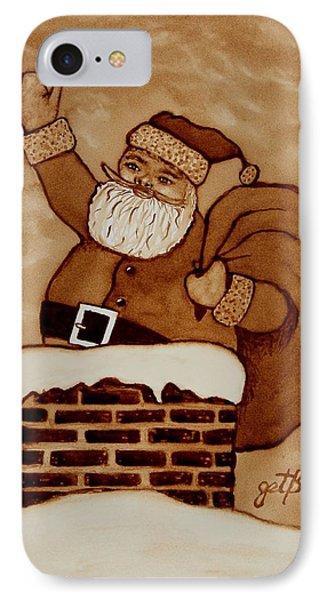 Santa Claus Is Coming Phone Case by Georgeta  Blanaru