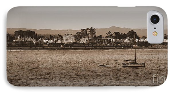 Santa Cruz Boardwalk Sepia IPhone Case