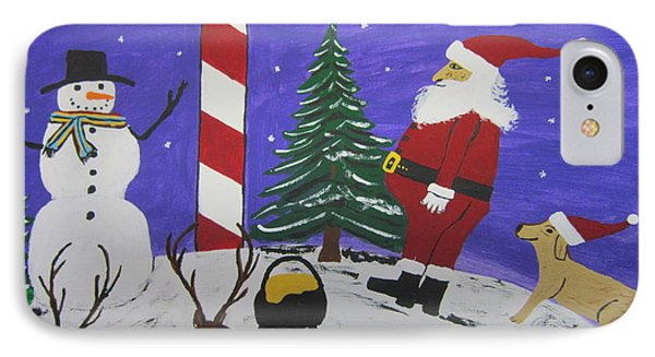 Santa Finds Pot Of Gold Phone Case by Jeffrey Koss