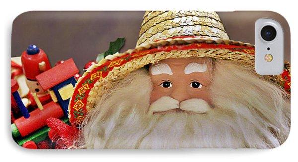 Santa Is A Gardener Phone Case by Christine Till