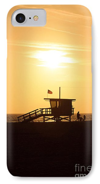 Santa Monica California Sunset Photo Phone Case by Paul Velgos