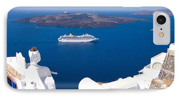 Santorini Cruising IPhone Case