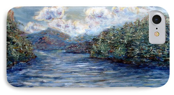 IPhone Case featuring the painting Saranac Lake On A Summer Evening by Denny Morreale