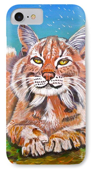 Sassy Lynx And Dandelions Phone Case by Phyllis Kaltenbach