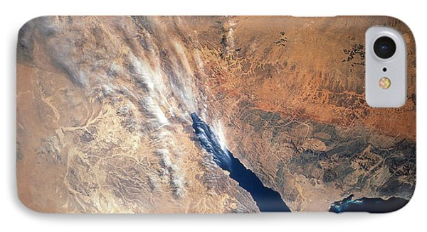 Satellite Image Of Land Phone Case by Stocktrek Images