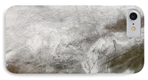 Satellite View Of A Severe Winter Storm Phone Case by Stocktrek Images