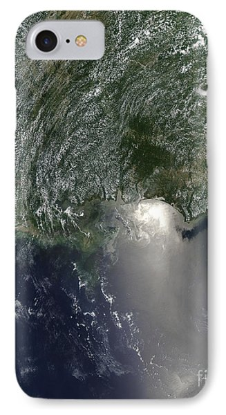 Satellite View Of An Oil Spill IPhone Case by Stocktrek Images
