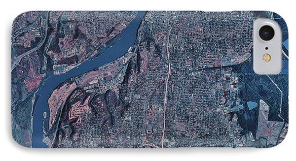 Satellite View Of Little Rock, Arkansas Phone Case by Stocktrek Images