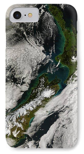 Satellite View Of New Zealand Phone Case by Stocktrek Images