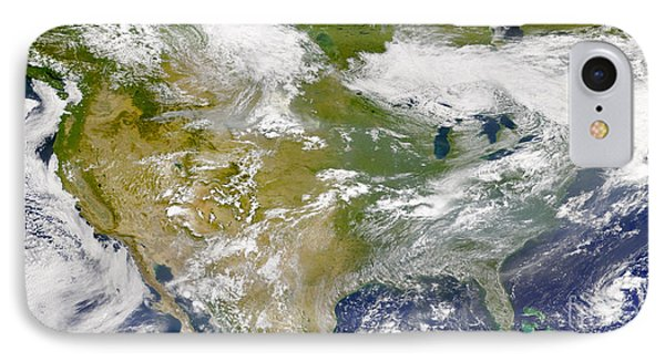 Satellite View Of North America Phone Case by Stocktrek Images