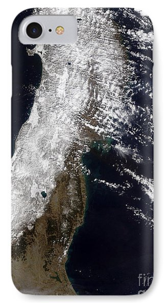 Satellite View Of Northeast Japan Phone Case by Stocktrek Images