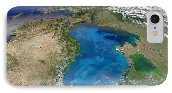 Satellite View Of Swirling Blue Phone Case by Stocktrek Images