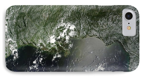 Satellite View Of The Gulf Of Mexico IPhone Case by Stocktrek Images