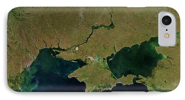 Satellite View Of The Ukraine Coast Phone Case by Stocktrek Images