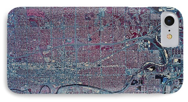 Satellite View Of Wichita, Kansas Phone Case by Stocktrek Images