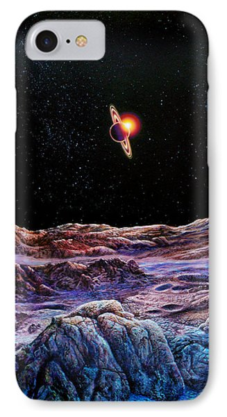 Saturn From Iapetus IPhone Case by Don Dixon