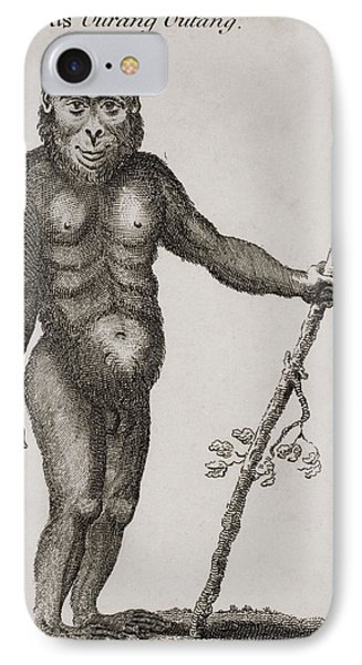 Satyrus, Ourang Outang. Engraved By Phone Case by Ken Welsh