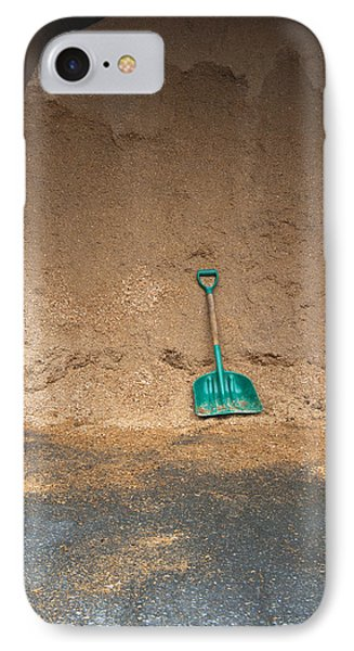 Sawdust And Shovel In A Barn. Bedding IPhone Case by Marlene Ford
