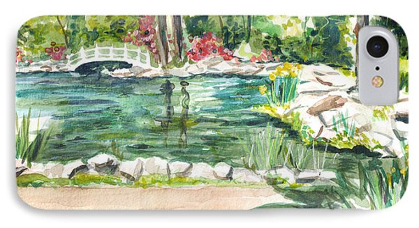 IPhone Case featuring the painting Sayen Pond by Clara Sue Beym