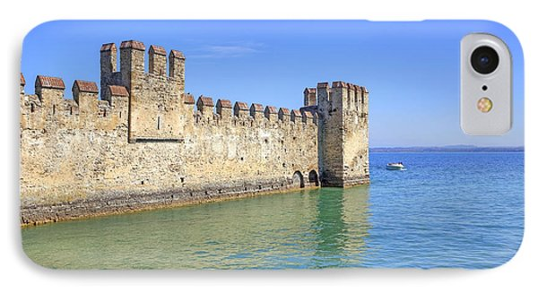 Scaliger Castle Wall Of Sirmione In Lake Garda Phone Case by Joana Kruse