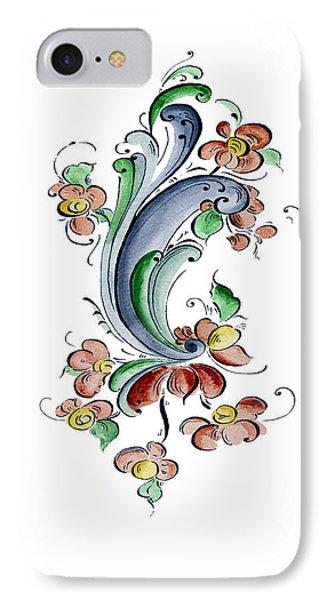 Scandinavian Flower I Phone Case by Judy Dodds