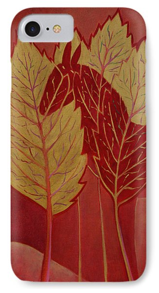 IPhone Case featuring the painting Scarlet Dream by Tone Aanderaa