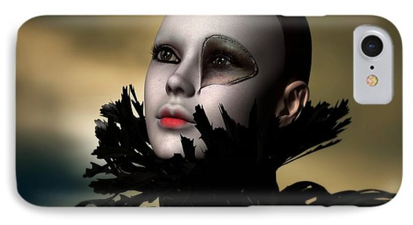 IPhone Case featuring the digital art Scarred Beauty by Sandra Bauser Digital Art