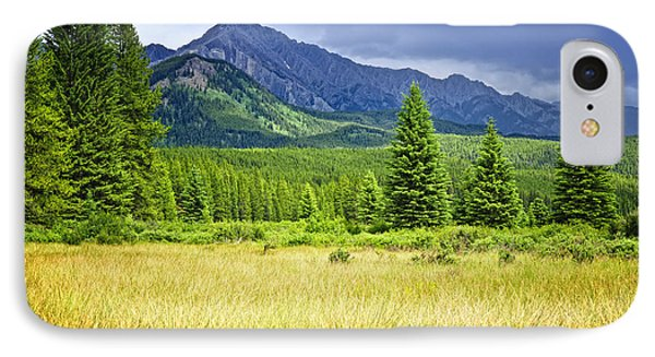 Scenic View In Canadian Rockies Phone Case by Elena Elisseeva