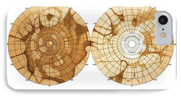 Schiaparelli's Map Of Mars, 1879 Phone Case by Detlev Van Ravenswaay
