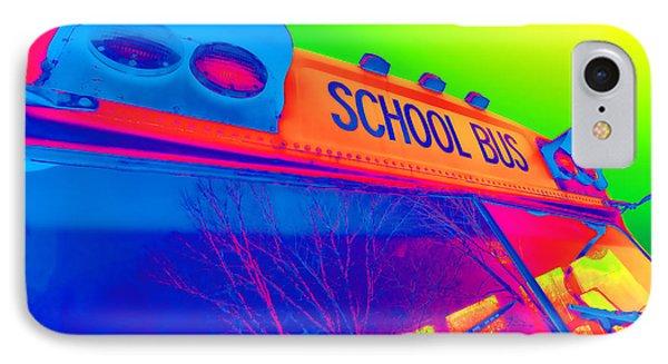 School Bus Phone Case by Gordon Dean II