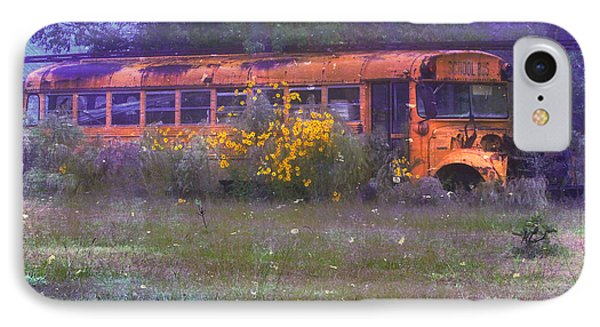 School Bus Out To Pasture Phone Case by Judi Bagwell