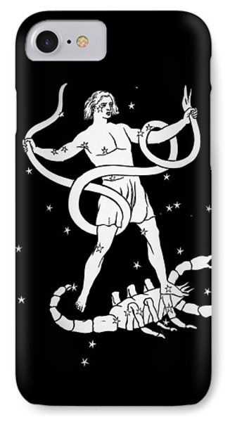 Scorpio And Ophiuchus Constellations Phone Case by