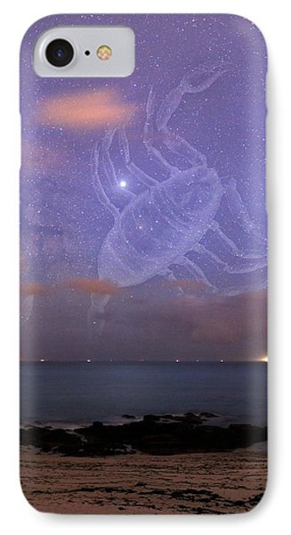 Scorpio In A Night Sky Phone Case by Laurent Laveder