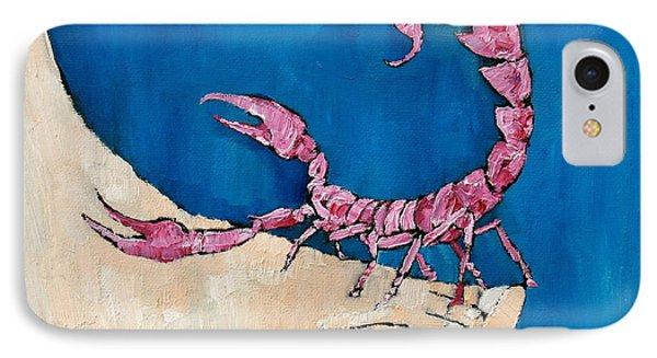 Scorpion On A Foot Phone Case by Fabrizio Cassetta