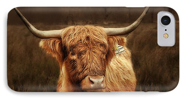 Scottish Moo Coo - Scottish Highland Cattle Phone Case by Christine Till