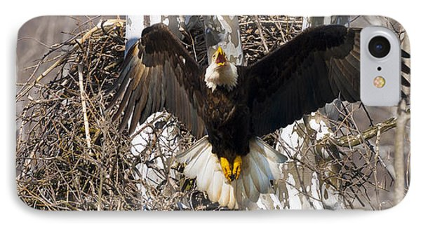 IPhone Case featuring the photograph Screaming Eagle  by Randall Branham