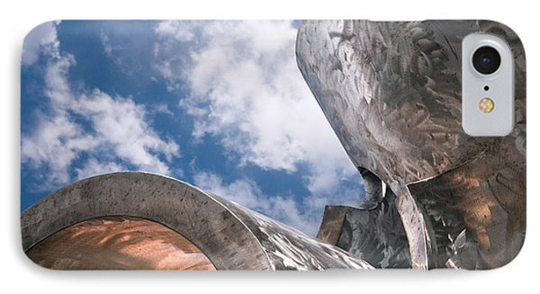 Sculpture And Sky IPhone Case by Tom Gort