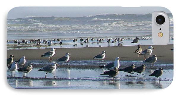 Sea Gulls And Breakers IPhone Case