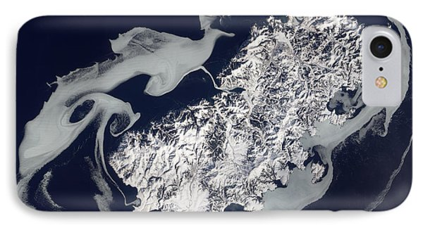 Sea Ice Surrounds The Volcanic Island Phone Case by Stocktrek Images