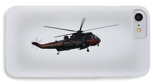 Sea King Helicopter Of The Belgian Army Phone Case by Luc De Jaeger