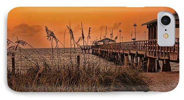 IPhone Case featuring the photograph Sea Oats At Dawn by Anne Rodkin