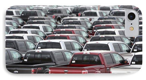 Sea Of Trucks Phone Case by Lisa Plymell
