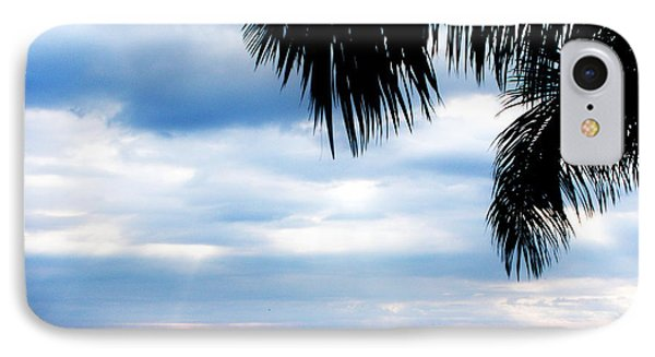 Sea Sky And Palm Tree Phone Case by Rosvin Des Bouillons