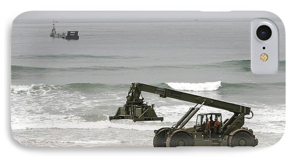 Seabee Loader And Powered Causeway Phone Case by Michael Wood