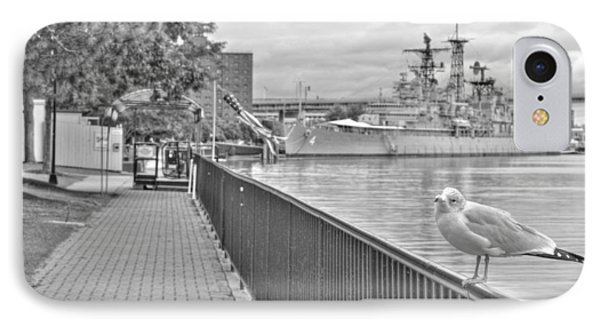 IPhone Case featuring the photograph Seagull At The Naval And Military Park by Michael Frank Jr