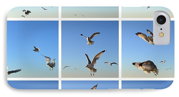 Seagull Collage 2 Phone Case by Michelle Calkins