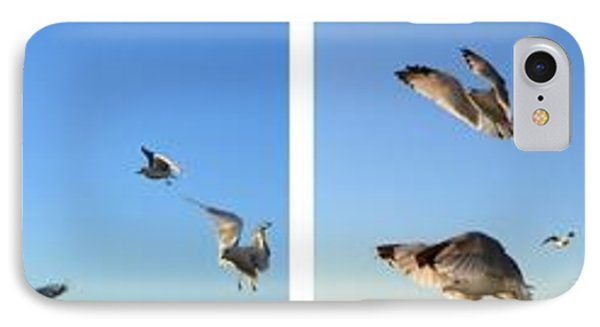Seagull Collage Phone Case by Michelle Calkins