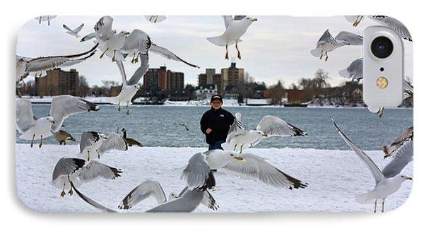 Seagulls In Flight IPhone Case by Gordon Dean II